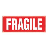 PK250 PRINTED LABELS FRAGILE 150X100MM