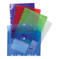 EXACOMPTA PUNCHED ENVELOPES A4 ASSORTED PACK OF 5