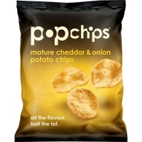 MATURE CHEDDAR & ONION POP CHIPS 33G - PACK OF 24
