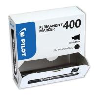 PILOT SCA 400 BLACK PERMANENT MARKER CHISEL TIP - VALUE BOX OF 20