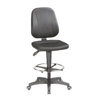 INTERSTUHL BLACK DRAUGHTMANN S SWIVEL CHAIR