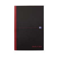 BLACK N  RED B5 CASEBOUND HARDBACK NOTEBOOK 90GM