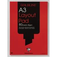 GOLDLINE A3 LAYOUT PAD 50GSM ACID FREE