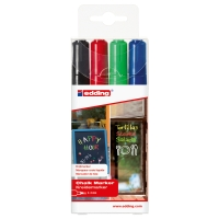 EDDING 4095 ASSORTED CHALK MARKERS - PACK OF 4