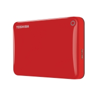 TOSHIBA 1.0TB CANVIO CONNECT II - RED