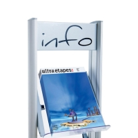 PAPERFLOW 4 SHELVES PLEXIGLAS FOR MOBILE DISPLAY