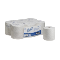 SCOTT MAX AIRFLEX 6691 WHITE 1 PLY HAND TOWEL ROLLS 350M - PACK OF 6