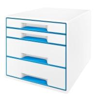 LEITZ  WOW DESK CUBE 4 DRAWER BLUE/WHITE